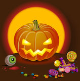 halloween pumpking Obraz Stock