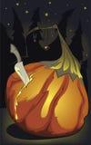 Halloween pumpking birth Stock Photo