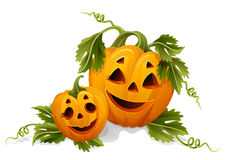 Halloween pumpkins Vector Illustration