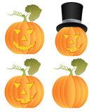 Halloween Pumpkins. Vector Halloween Pumpkins isolated on white Royalty Free Stock Images