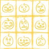 Halloween pumpkins. Orange Halloween seamless pumpkin background Royalty Free Stock Photo