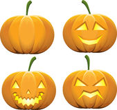 Halloween pumpkins Stock Photo