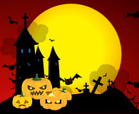 Halloween pumpkins. Vector illustration Stock Images