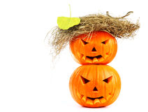 Halloween pumpkins Stock Photos