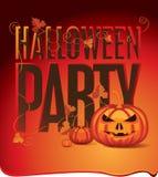 Halloween with pumpkins Royalty Free Stock Photos