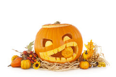 Halloween pumpkins Stock Images