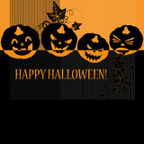 Halloween with pumpkins Royalty Free Stock Photo
