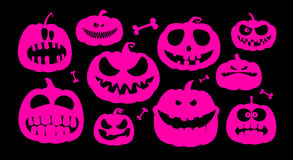 Halloween pumpkins. Stock Photography