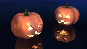 Halloween pumpkins. A 3d rendering of carved pumpkins for halloween Royalty Free Stock Photo