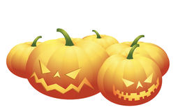 Halloween pumpkins. Isolated on white. Additional vector format in EPS (v.8 Stock Photo