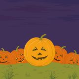 Halloween pumpkins army Royalty Free Stock Photo