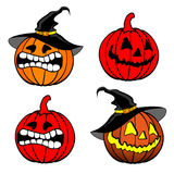 Halloween pumpkins background Royalty Free Stock Photo
