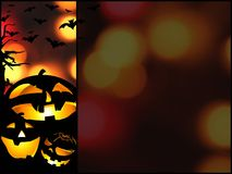 Halloween pumpkins background illustration with place for text Royalty Free Stock Photo