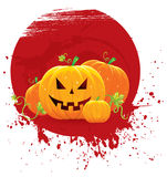 Halloween pumpkins banner Royalty Free Stock Photo