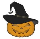 Halloween Pumpkins. With black hat Stock Image