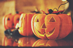 Halloween Pumpkins.Border Design Stock Photography