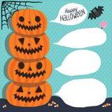 Halloween. Pumpkins with bubble speech Stock Photos