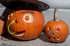 Halloween pumpkins from Budapest Pumpkin Festival 2015. Halloween pumpkin from Budapest pumpkin festival at  Heroes Square, October 2015 Royalty Free Stock Photo