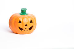 Halloween Pumpkins and Candles Stock Photo