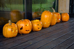 Halloween pumpkins. Carved, ready to party stock image