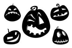 Halloween pumpkins clipart. Royalty Free Stock Photography