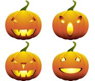 Halloween Pumpkins Collection. Different Halloween pumpkins collection. Isolated on white Royalty Free Stock Image