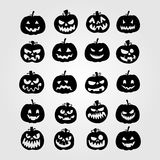Halloween Pumpkins Collection Set. Eps 10 Stock Image