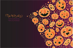 Halloween pumpkins corner decor background Royalty Free Stock Photography
