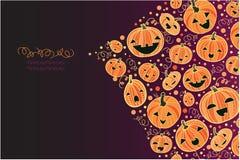 Halloween pumpkins corner decor background Royalty Free Stock Photography