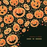 Halloween pumpkins corner decor pattern background Stock Photography