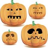 Halloween pumpkins 3. Halloween pumpkins with cute faces set 2 for Halloween decoration, vector illustration stock illustration