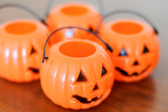 Halloween pumpkins decoration Royalty Free Stock Images