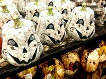 Halloween Pumpkins Display Royalty Free Stock Images