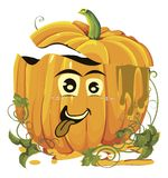 Halloween pumpkins faces Stock Photography