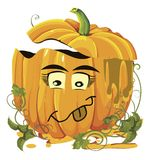 Halloween pumpkins faces Royalty Free Stock Photo