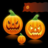 Halloween pumpkins family Royalty Free Stock Photos
