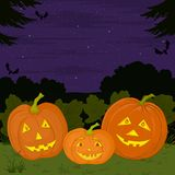 Halloween pumpkins family Royalty Free Stock Photo