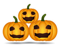 Halloween pumpkins family. Royalty Free Stock Photography