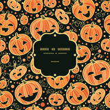 Halloween pumpkins frame seamless pattern Royalty Free Stock Photo