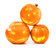 Halloween pumpkins glow Stock Photo