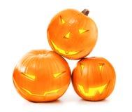 Halloween pumpkins glow Stock Photo