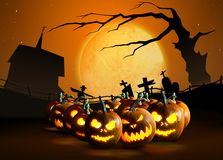 Halloween pumpkins stock illustration