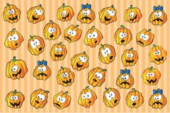 Halloween pumpkins - holiday background Royalty Free Stock Photo