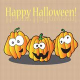 Halloween pumpkins - holiday card Royalty Free Stock Photo