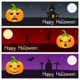 Halloween Pumpkins Horizontal Banners [2] vector illustration
