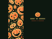 Halloween pumpkins horizontal frame seamless Royalty Free Stock Images