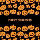 Halloween pumpkins horror background Stock Photos