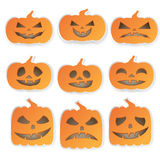 Halloween Pumpkins Icons Set Stock Images