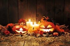 Halloween pumpkins Stock Photography