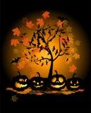Halloween pumpkins illustration Stock Images